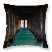 Pier Pylons Throw Pillow