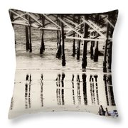 Pier Reflections Throw Pillow