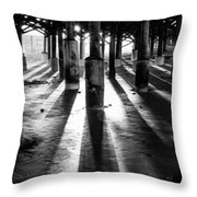 Pier Shadows Throw Pillow