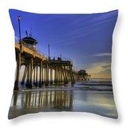 Pier Surfer  Throw Pillow