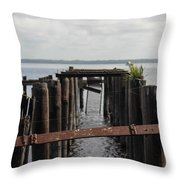 Pier To Nowhere Throw Pillow