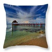 Pier To Paradise Throw Pillow