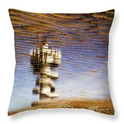 Pier Tower Throw Pillow by Dave Bowman