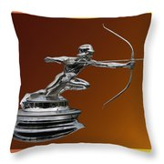 Pierce Arrow Hunter Mascot Throw Pillow