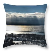 Piercing Cold Rays Upon The Waters Winter 2013 Throw Pillow
