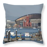 Pierhead Building In Cardiff Bay Throw Pillow