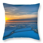 Pierhead Polar Vortex Sunrise Throw Pillow