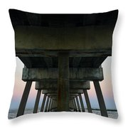 Pierhenge Throw Pillow by Laura Fasulo