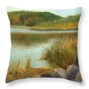Piermont Shoreline Throw Pillow