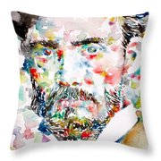 Pierre-auguste Renoir Watercolor Portrait Throw Pillow