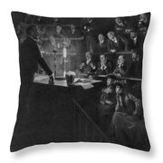 Pierre Curie (1859-1906) Throw Pillow
