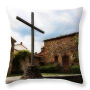 Pieve Di Santa Maria All Sovaro Throw Pillow
