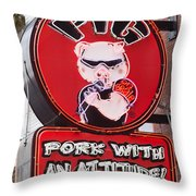 Pig On Beale Throw Pillow
