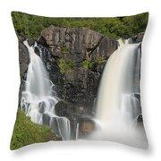 Pigeon River High Falls 11 Throw Pillow