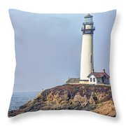 Pigeon Point Throw Pillow by Heidi Smith