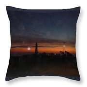 Pigeon Point Light At Sunset Throw Pillow