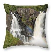 Pigeon River High Falls 4 Throw Pillow