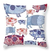 Piggy In The Middle Throw Pillow