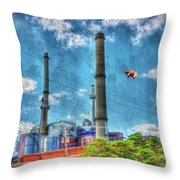 Pigs On The Wing Revisited Throw Pillow