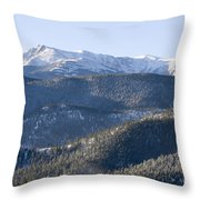 Pike National Forest In Snow Throw Pillow