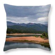 Pikes Peak From Crystal Creek Reservoir  Throw Pillow