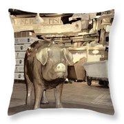 Pikes Peak Market Pig Throw Pillow