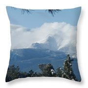 Pikes Peak Under The Clouds Throw Pillow