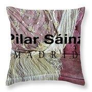 Pilar Sainz Designer Throw Pillow