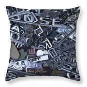 Pile Of Badges 1 Throw Pillow