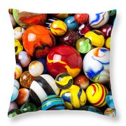 Pile Of Marbles Throw Pillow by Garry Gay