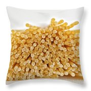 Pile Of Pasta Throw Pillow by Julian Eales