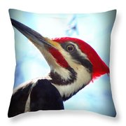 Pileated Close Up Throw Pillow
