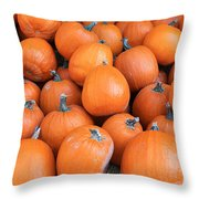 Piles Of Pumpkins Throw Pillow