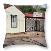 Pilgrims Hotel Throw Pillow