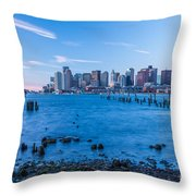 Pilings On Boston Harbor Throw Pillow