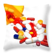 Pill Cocktail    Throw Pillow by Olivier Le Queinec