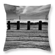 Pillared Bridge Throw Pillow