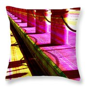 Pillars And Chains - Color Rays Throw Pillow