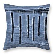 pillars on the Bay Throw Pillow