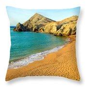 Pilon De Azucar Beach Throw Pillow