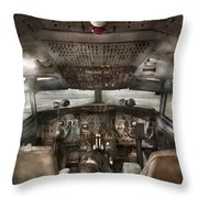 Pilot - Boeing 707  - Cockpit - We Need A Pilot Or Two Throw Pillow