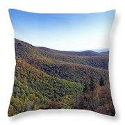 Pilot Mountain Near Balsam Grove Throw Pillow