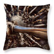 Pilot - Plane - Engines At The Ready  Throw Pillow by Mike Savad