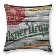 Pilsner Urquell Throw Pillow
