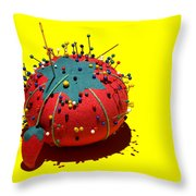 Pin Cushion Throw Pillow