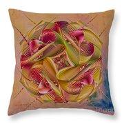 Pin Stripe City Throw Pillow by Deborah Benoit