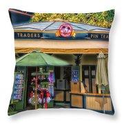 Pin Traders Downtown Disneyland 02 Throw Pillow