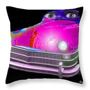 Pin Up Cars - #1 Throw Pillow by Gunter Nezhoda
