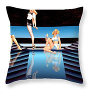 Pin Up Girls By 4 Throw Pillow