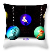 Pin Up Ornaments Throw Pillow
